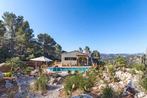 Mediterran garden with pool
