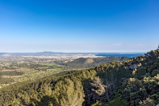 Mediterran sea views from the finca