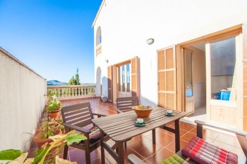 Sunny terrace with nice views