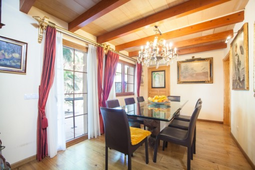 Dining area from the villa