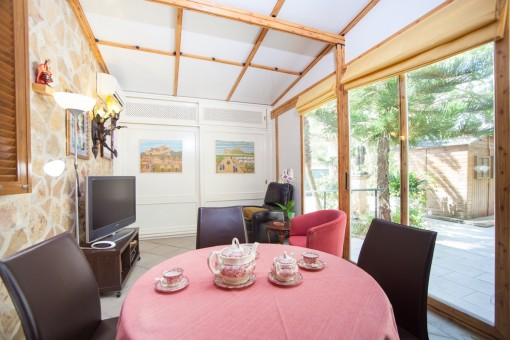 Dining area with panoramic windows