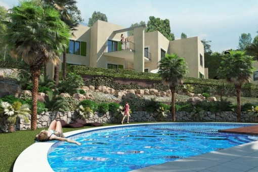 Newly-built, modern residential complex in Cala Vinyes