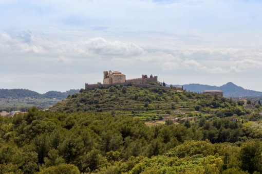 Views to the castel from Artà