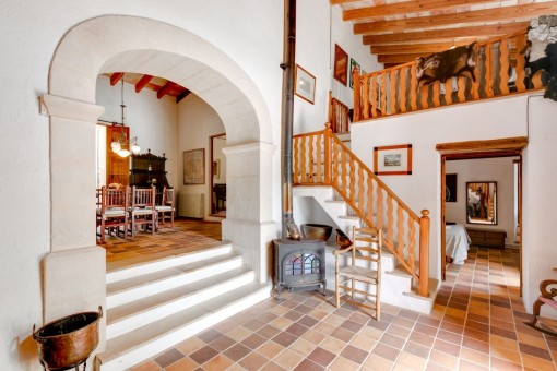 Hall from the finca