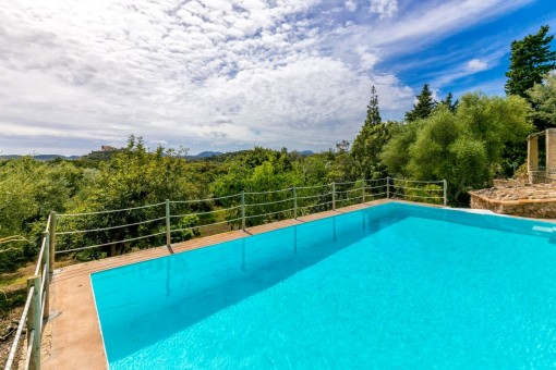 Pool with gorgeous landscape views