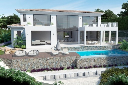 Modern villa on the 1st sea line in Santa Ponsa