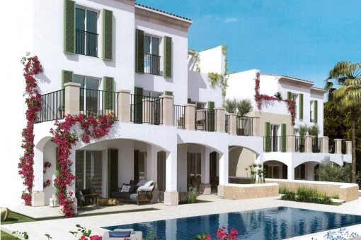 12 new duplex apartments and 2 penthouses in Cala Santanyi