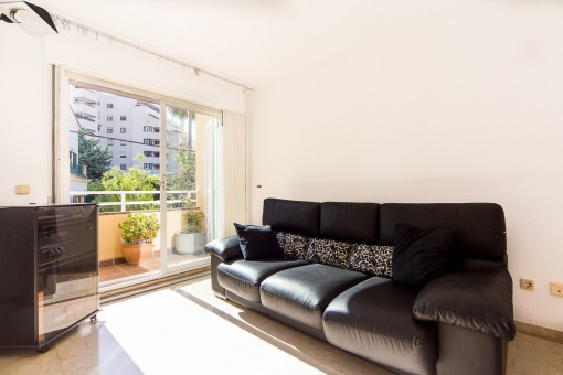 Bright Living Room With Access To Balcony