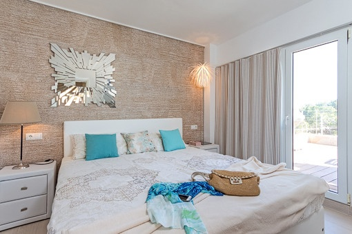 Beautiful bedroom with access to terrace