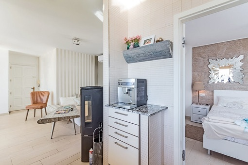 Living area beside the bedroom