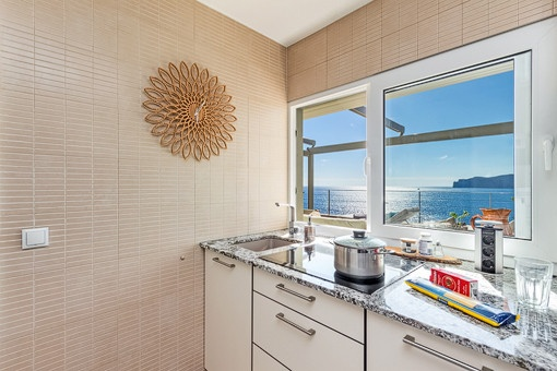 Nice sea views from the kitchen
