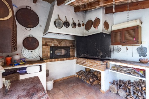 Traditional barbecue area