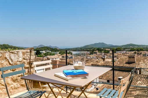 Dreamlike views from the roof terrace
