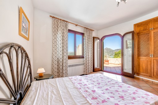 Bedroom with panoramic windows