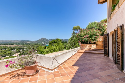 Idyllic panoramic views from the terrace