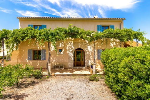 Idyllic mediterranean garden surrounds the property