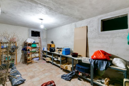 Storage room in the cellar