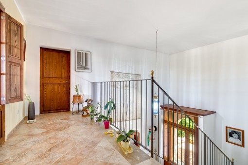 Open corridor and staircase