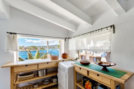Charming kitchen corner with sea views