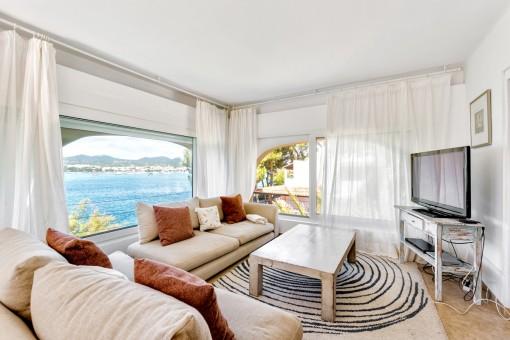 Living area with impressive sea views