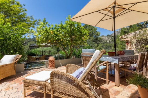 The finca offers a lot of beautiful retreats