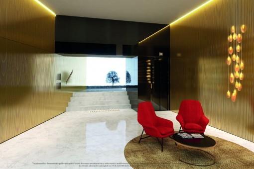 Elegant entrance area with lounge