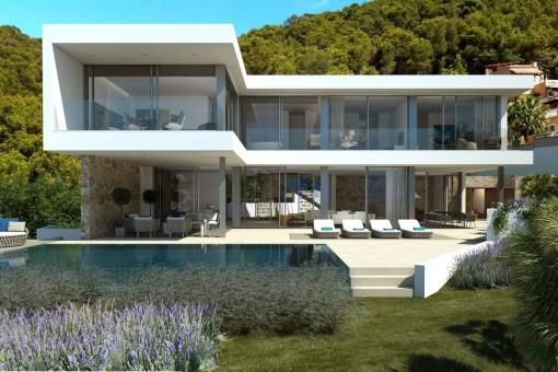 Mondern newly built villa with sea views in Port Andratx