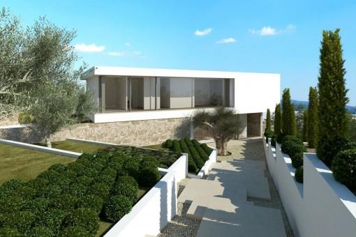 Great terrace-front-garden