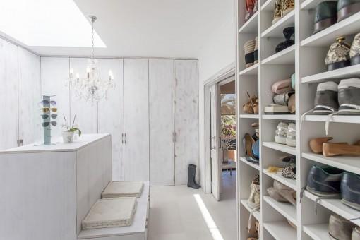 Capacious dressing room