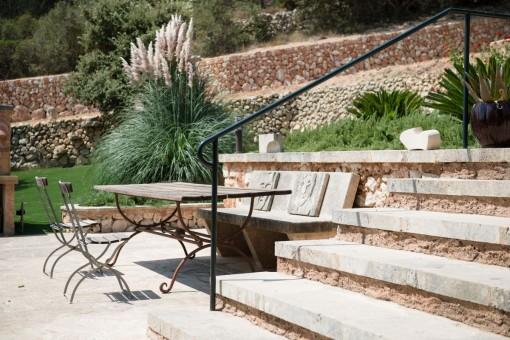 Sun terrace in the garden