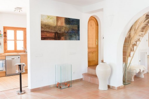Entrance hall with kitchen views