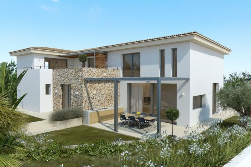 Front from the villa
