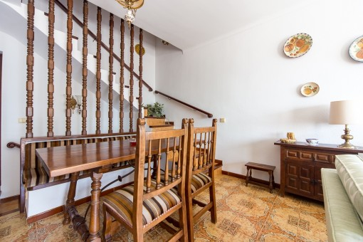 Traditional dining area