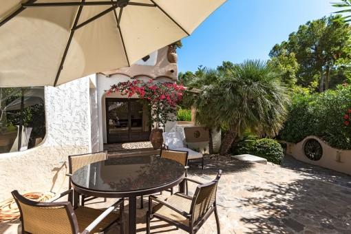 Enjoy the sun on the terrace