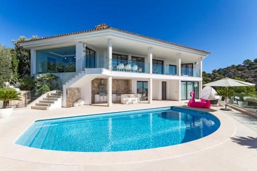 Exterior view of the luxury villa