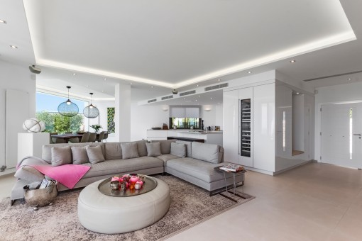 Large, openly-designed living area