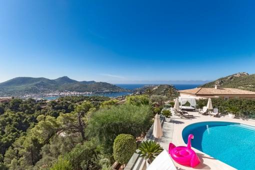 Exclusive villa with fantastic sea views in Puerto de Andratx