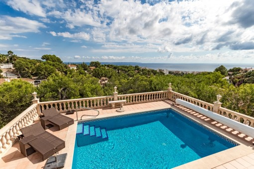 Villa with superb sea views in Costa d'en Blanes