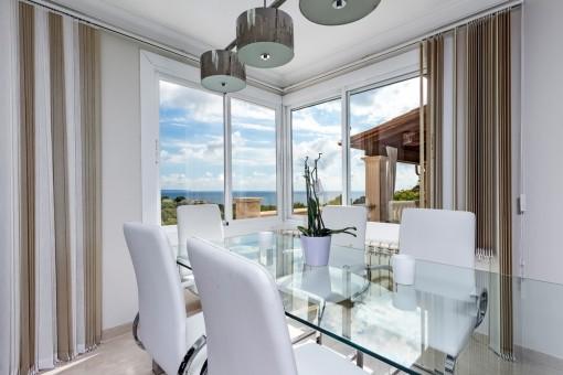 The villa has an open living space