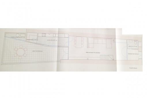 Floorplan of the groundfloor