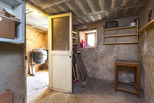 Storage room in the celler