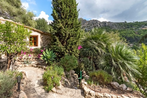 Mediterranean garden and views of the mountains