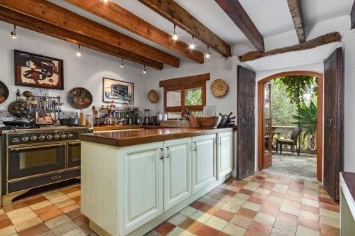 Rustic kitchen on the ground floor