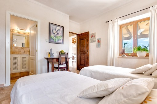 The guest house has 2 bedrooms