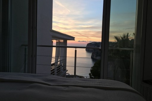 Lovely sea views from the bedroom