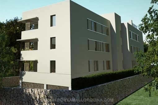 Modern building with 6 apartments
