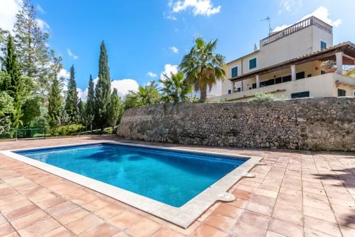 Huge terrace with 14 x 6 metre pool