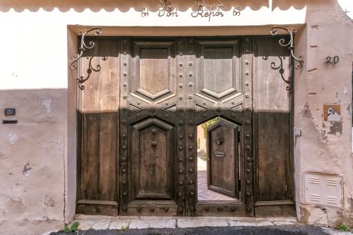 Antique entrance door