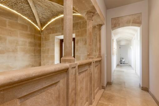 Beautiful gallery on the upper floor