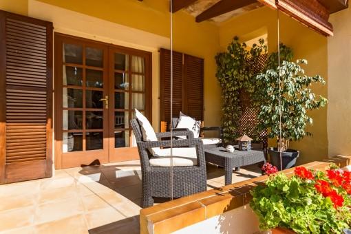 Wonderful covered terrace